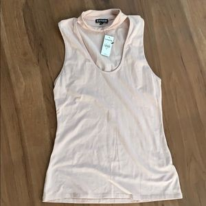 NWT Express Blush Choker Tank Top - S